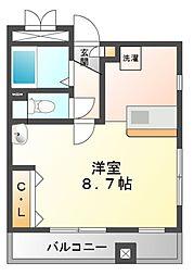 ミリアビタNO8[2階]の間取り