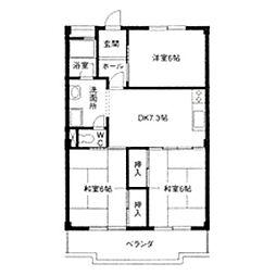 フローレスヤマワキ[4階]の間取り