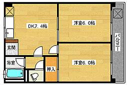 玉川ビル[302号室]の間取り