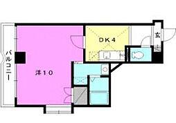 カサグランテ湯之町[4-D 号室号室]の間取り