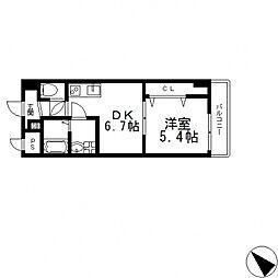 Social Village(ソシアル ヴィレッジ)[603号室号室]の間取り