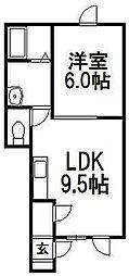 ラピスIII[1D号室]の間取り