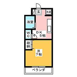 セイントフローレンスIII[1階]の間取り