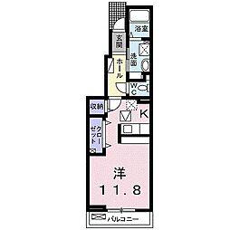 JR山陽本線 姫路駅 徒歩25分の賃貸アパート 1階1Kの間取り