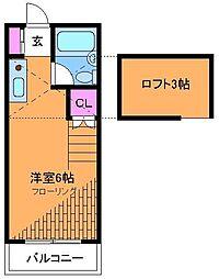 エミグラント調布[2階]の間取り