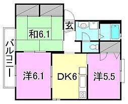 メゾン志津川[D202 号室号室]の間取り