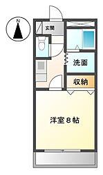 愛知県名古屋市緑区大将ケ根2丁目の賃貸マンションの間取り