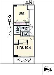 プラネットD棟[1階]の間取り