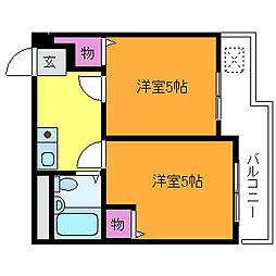 アメニティー新高一番館[6階]の間取り