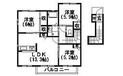 シャーメゾン丸豊[2階]の間取り
