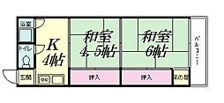 山野マンション[302号室]の間取り