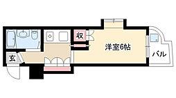 愛知県名古屋市昭和区川名町4丁目の賃貸マンションの間取り