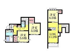 シャーメゾン城の下通2丁目 新築[B105号室]の間取り