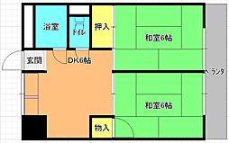 若江岩田駅徒歩6分 オークリッジ[3号室]の間取り