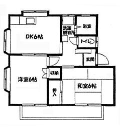 ウイングヤマシタ[A102号室]の間取り