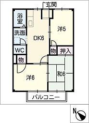 フラッツ白子B[1階]の間取り