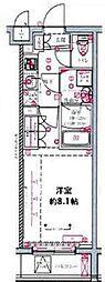 都営三田線 蓮根駅 徒歩8分の賃貸マンション 5階1Kの間取り