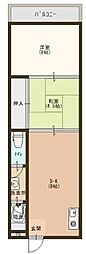 北長尾マンション[2階]の間取り