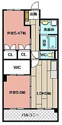 デザイナー・プリンセス・KY[603号室]の間取り
