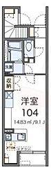 JR中央線 吉祥寺駅 バス11分 北野小東下車 徒歩9分の賃貸アパート 1階ワンルームの間取り