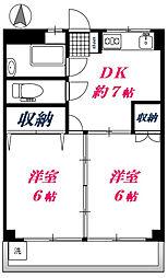 第1幸栄マンション[2階]の間取り