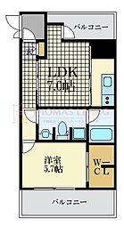 福岡市地下鉄空港線 大濠公園駅 徒歩3分の賃貸マンション 3階1DKの間取り