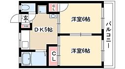 fメゾン桜本町(旧トリスコーポ)[2階]の間取り