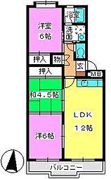 メゾン・ド・Fuji[402号室]の間取り