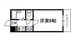 フレクション堀川[305号号室]の間取り