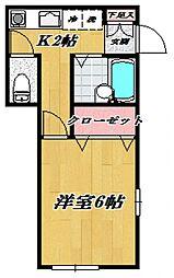 ボナールソフィア宮崎台[101号室号室]の間取り