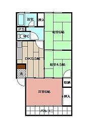 泉ヶ丘第2マンション[302号室]の間取り