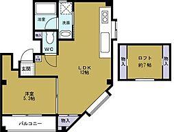 大阪府大阪市此花区梅香2丁目の賃貸マンションの間取り
