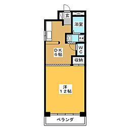 アンビション別明[4階]の間取り