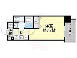 エスリード新大阪CONFORT 1番館 2階1Kの間取り