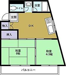 ディアーハイツ川口[2階]の間取り