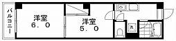 レジデンスカープ新潟[6階]の間取り