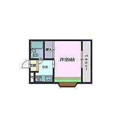 ファインハイツ[1-D号室]の間取り