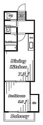 金太郎ヒルズ106[2階]の間取り