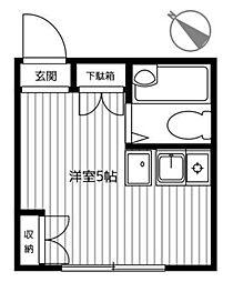 神奈川県横浜市緑区鴨居3丁目の賃貸アパートの間取り