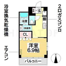 愛知県名古屋市南区堤町2の賃貸マンションの間取り
