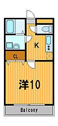 神奈川県大和市中央2丁目の賃貸マンションの間取り