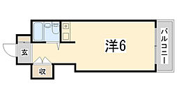 JOY姫路壱番館[305号室]の間取り