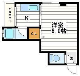 桃谷マンション[4階]の間取り
