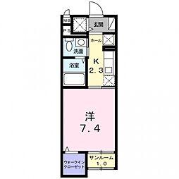埼玉県熊谷市中央2丁目の賃貸マンションの間取り