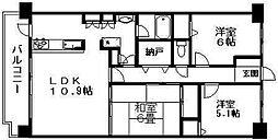 パストラルハイム米山弐番館[3階]の間取り