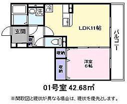 JR東海道・山陽本線 彦根駅 徒歩13分の賃貸アパート 3階1LDKの間取り