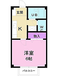 香川県丸亀市津森町の賃貸アパートの間取り