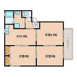 静岡県静岡市清水区蜂ケ谷南町の賃貸アパートの間取り