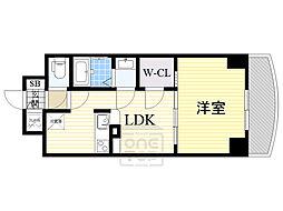 ノルデンタワー新大阪アネックス 21階1LDKの間取り