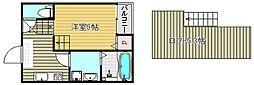 大阪府吹田市岸部中3丁目の賃貸アパートの間取り
